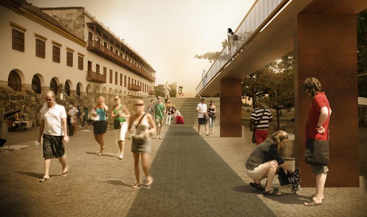 MOBO revela nuevas imágenes de los futuros enlaces peatonales en la ciudad amurallada de Cartagena, Z8: Baluarte de San Ignacio – Baluarte de San Francisco. Image Cortesía de MOBO Architects