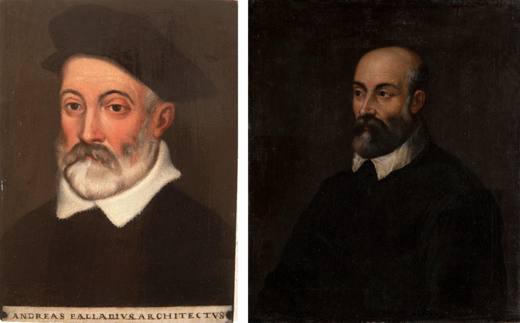 Study Determines That This is (Probably) What Andrea Palladio Looked Like, Left: seemingly accurate portrait of Palladio purchased at an antiques store in New Jersey, USA. Right: seemingly accurate portrait of Palladio in a private collection in Moscow, Russia. Image via The New York Times / Palladio Museum