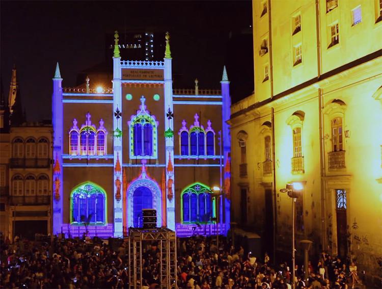 Rio de Janeiro recebe maior festival de luzes da América Latina, Via III RIO MAPPING FESTIVAL 2017