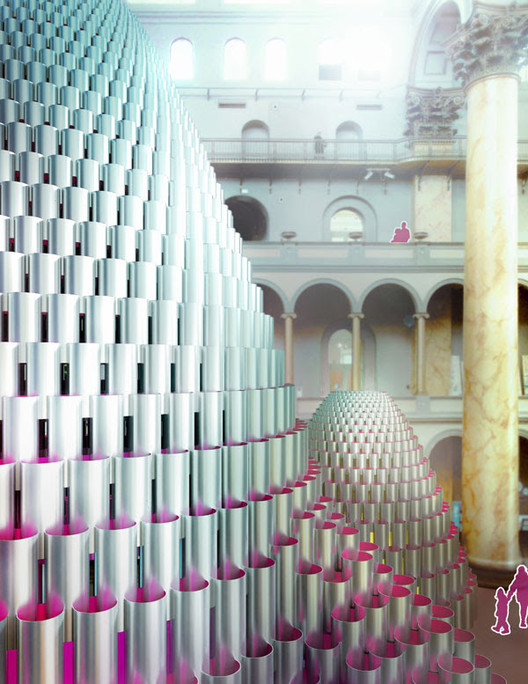 "Studio Gang to Construct ""Hive"" for the National Building Museum's Summer Block Party, Courtesy of National Building Museum"