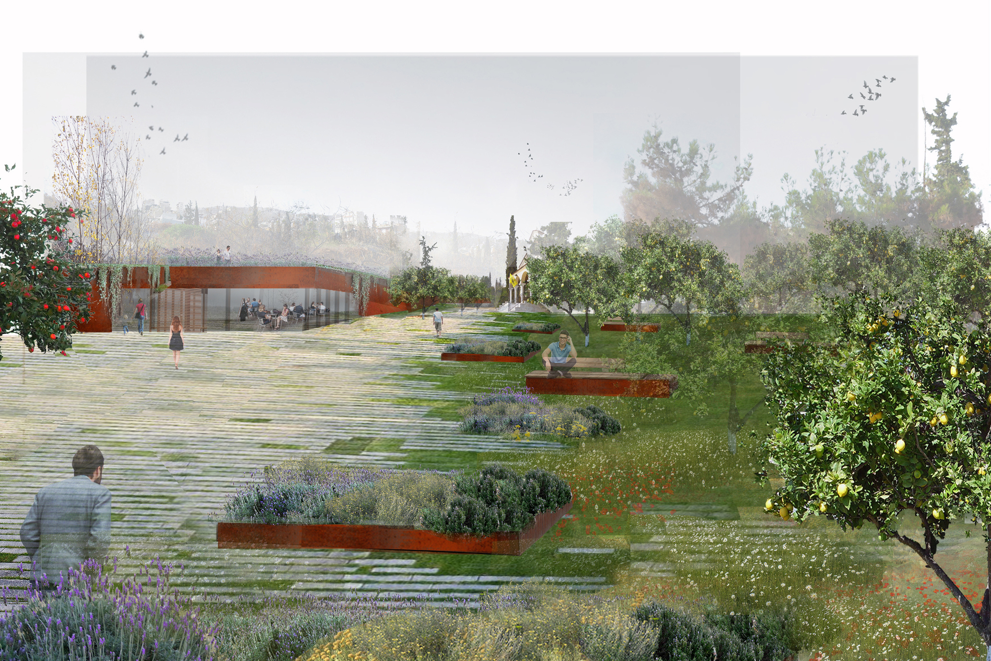 Gallery Of Topio7u2019s Revitalisation Of Former Cemetery Merges Urban Park And City In Athens - 3