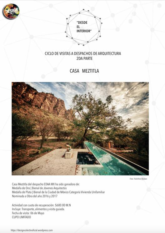"""""""Desde el interior"""" Visita a Casa Meztitla , Design Colectivo"""