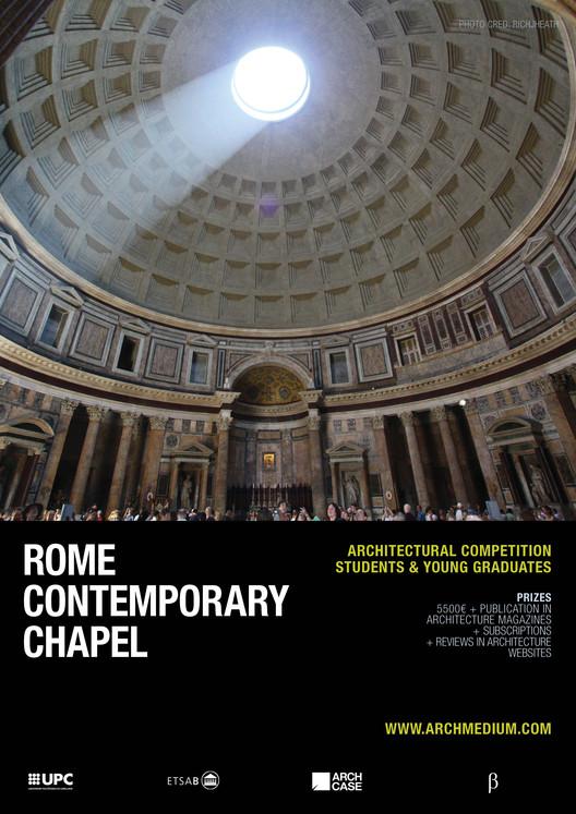 Concurso 'Rome Contemporary Chapel', RCC poster