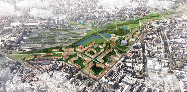 EMBT Unveils Proposal to Revitalize Seven of Milan's Disused Railway Yards, Courtesy of EMBT