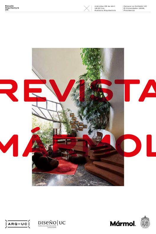 Charla Revista Mármol en Facultad de Arquitectura, Diseño y Estudios Urbanos UC