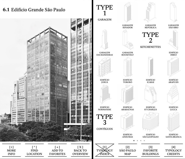 Typology City Guide: um guia das tipologias construtivas de cidades ao redor do mundo, via App Store
