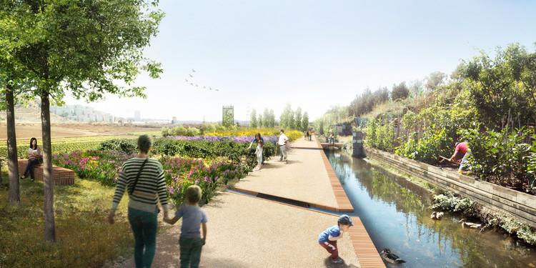 Rec Comtal, un proyecto paisajístico para restaurar el histórico canal de riego de Barcelona, Camino y ecotono. Image Cortesía de Arquitectos autores