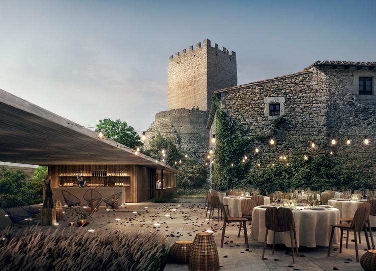 MESURA avança na renovação do histórico Castelo de Peratallada na Catalunha, Cortesía de Mesura