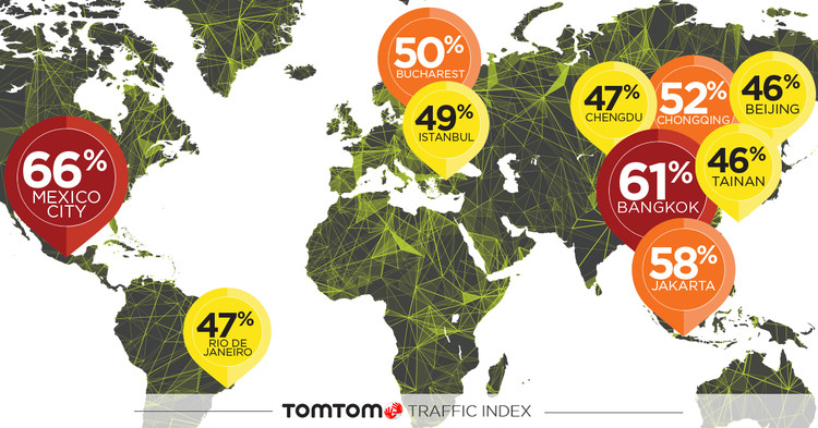 The Global Cities With the Worst Traffic Problems, Courtesy of TomTom Traffic Index