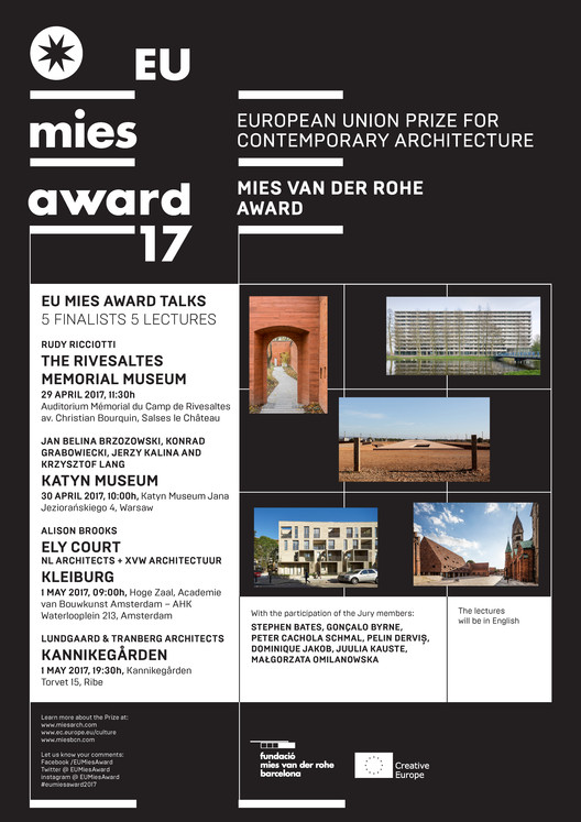 MIES TALKS – Finalist Lectures Series of the EU Mies Award 2017, MIES TALKS – Finalist Lectures Series of the EU Mies Award 2017