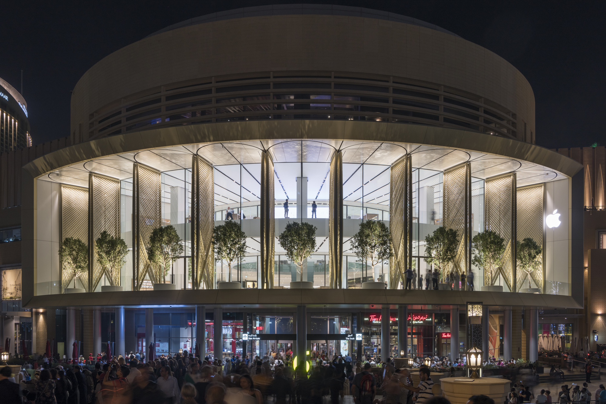 Apple Dubai Mall Foster Partners Archdaily