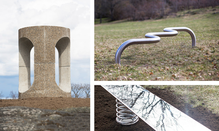 "In the Swedish City of Järfälla, Ten Radical ""Superbenches"" Are Unveiled as Community Incubators, Core / Philippe Malouin, Ali Bar Chair / Max Lamb, and Spring Break / Soft Baroque. Image © Jezzica Sunmo"