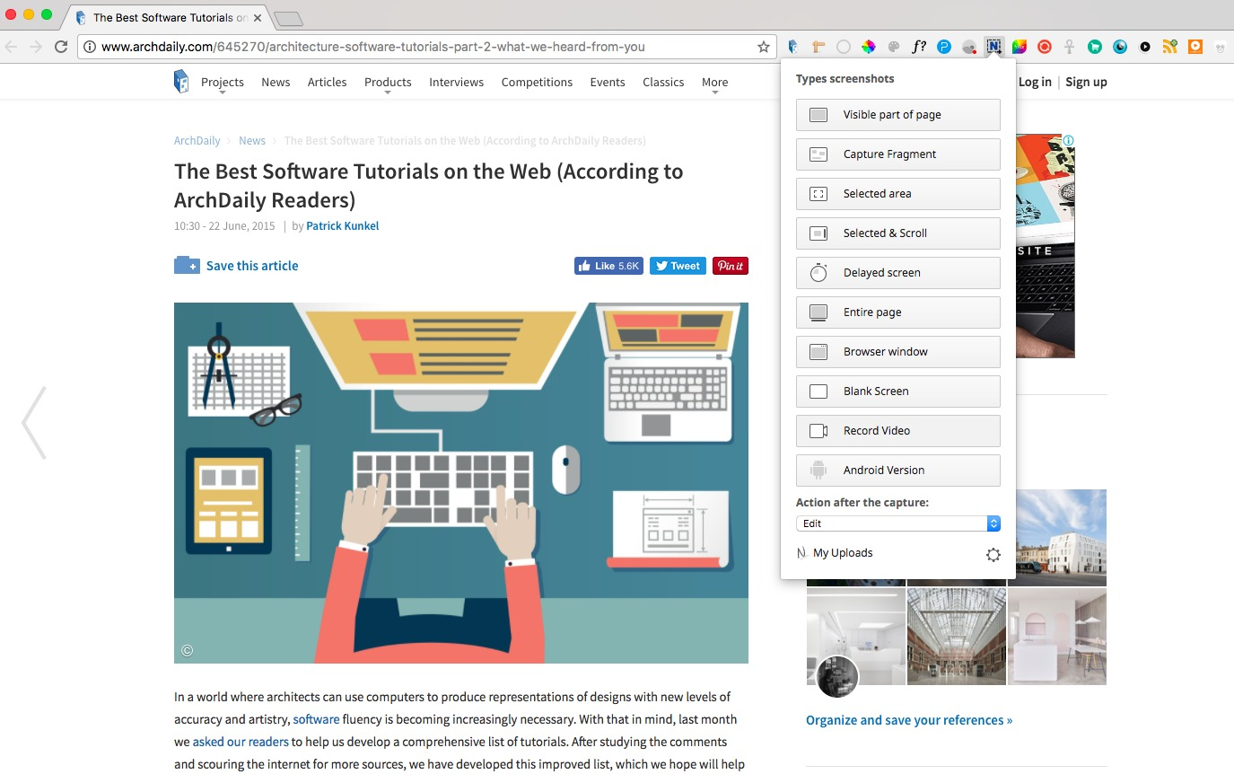Gallery of 14 Chrome Extensions to Make Your Architecture Browsing