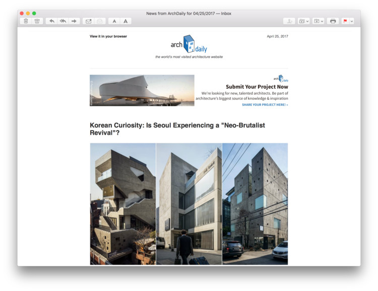 5 daily newsletters to help you power through your architecture job