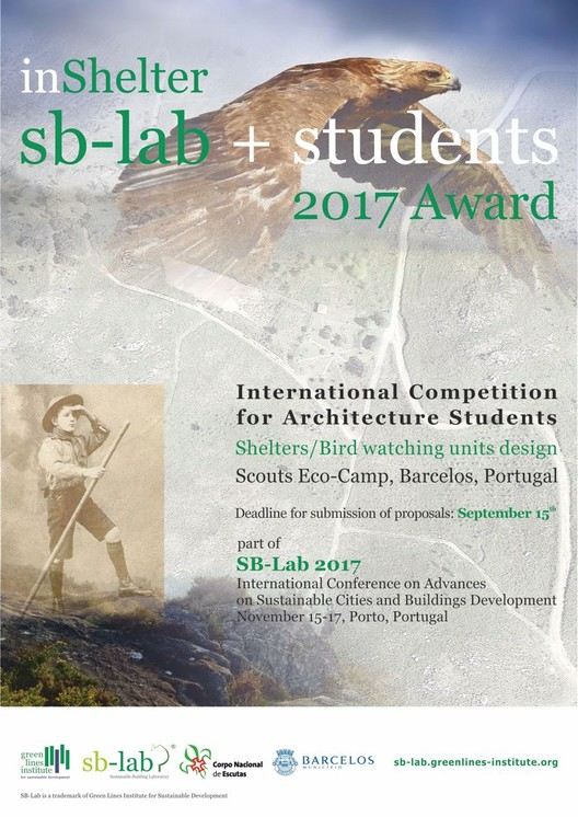 Open Call: inShelter SB-Lab + Students 2017 Award, inShelter SB-Lab + Students 2017 Award Poster (credits: Green Lines Institute)