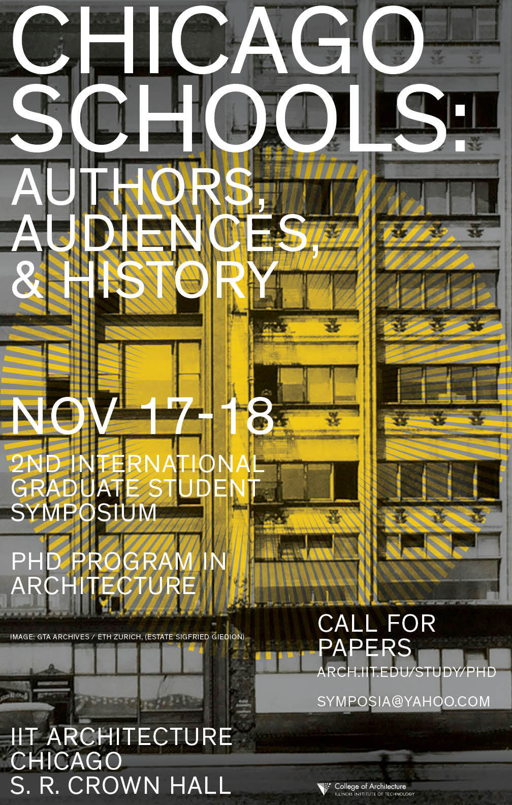 Call For Papers Chicago Schools: Authors, Audiences And History, Symposium  Poster, Please