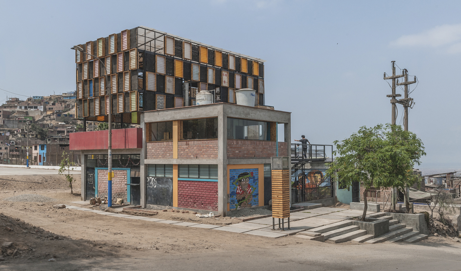 Local comunal del comedor san mart n proyecto for Local arquitectura