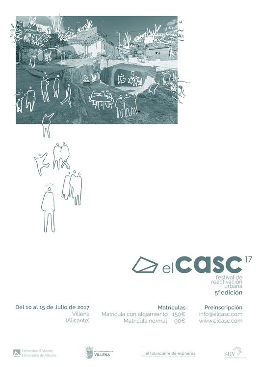 V Festival de reactivación urbana, arte y arquitectura. elCASC 2017, Cartel elCASC 2016