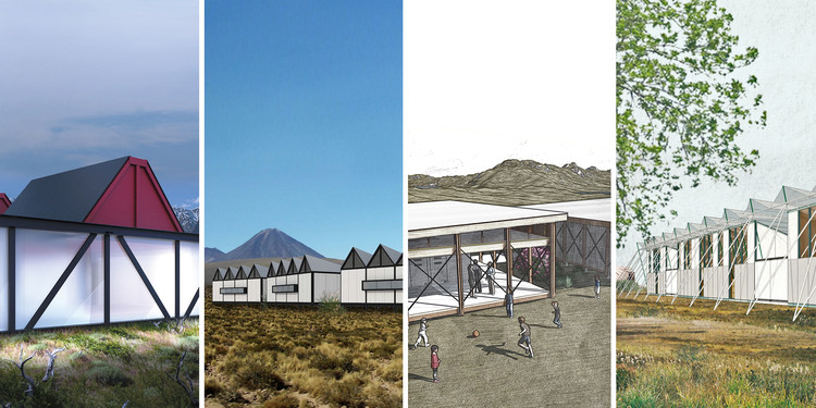 """Arquitetos chilenos propõem equipamentos educacionais emergenciais modulares, Proyectos premiados en el concurso """"Sistema modular para nuevos espacios educativos"""". Image Cortesía de MINEDUC"""
