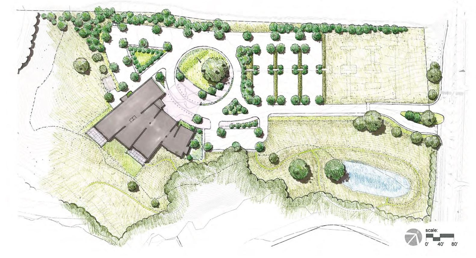 Gallery of Varina Area Library BCWH Architects 30 – Rendered Site Plan