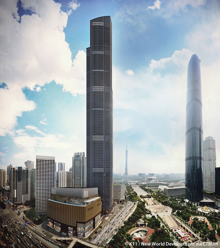 These Are the World's 25 Tallest Buildings,Guangzhou CTF Finance Centre. Image © K11 / New World Development