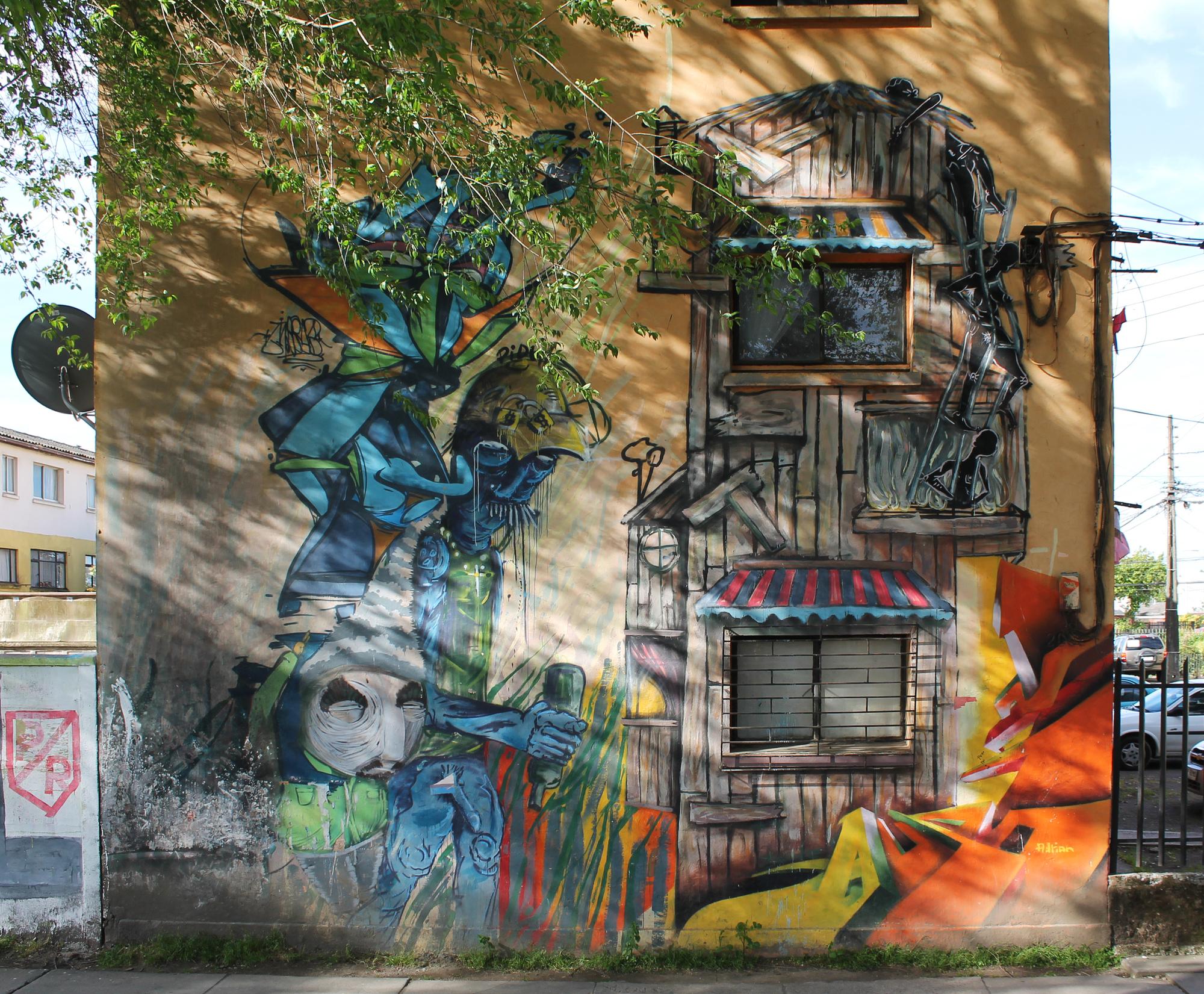Grafite e a apropriação da arquitetura