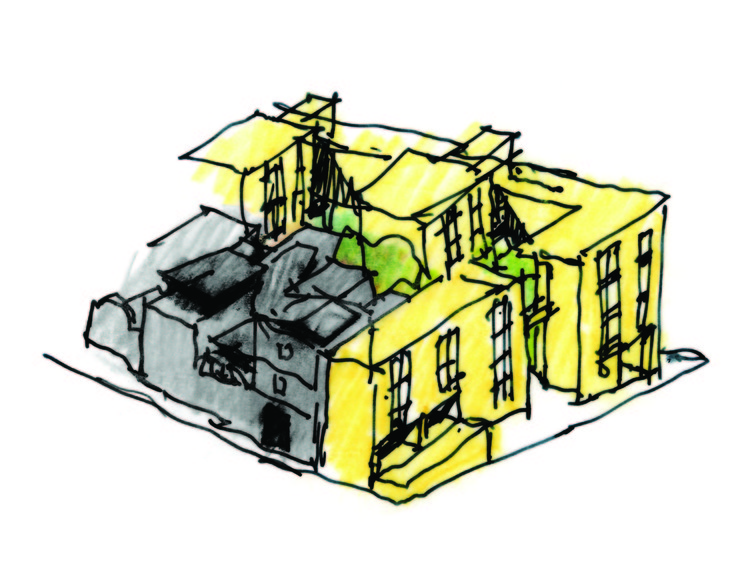 Cinco mantras do desenho urbano por Héctor Vigliecca, Croqui do conjunto habitacional Heliópolis Gleba A, em São Paulo. Image Cortesia de Vigliecca & Associados