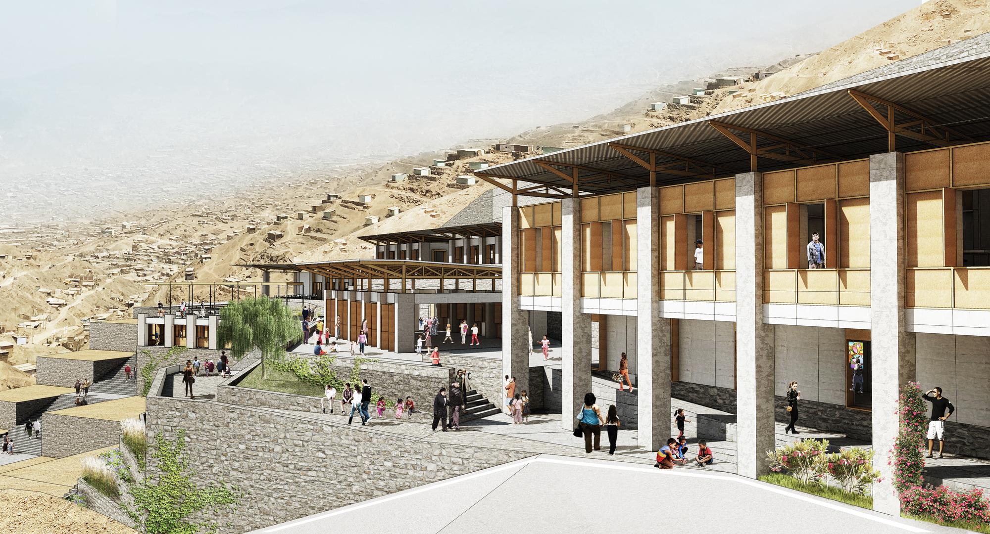 Tercer lugar concurso ning n ni o sin escuela en villa for Universidades para arquitectura