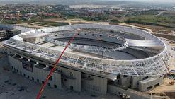Así avanza la construcción del Estadio Wanda Metropolitano en Madrid