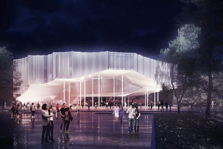 Höweler + Yoon Architecture divulga projeto para Escola de Circo, via v2com