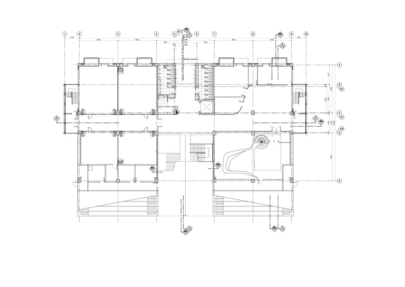 Singapore international school of bangkok phase iisecondary building 1st floor plan