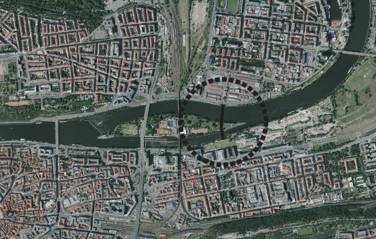 Call for Proposals: HOLEŠOVICE–KARLÍN FOOTBRIDGE, The Capital City of Prague has announced The Footbridge Holešovice - Karlín International Design Competition