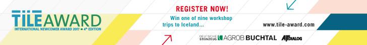 2017 TILE AWARD International Competition (Under 38), REGISTER NOW!