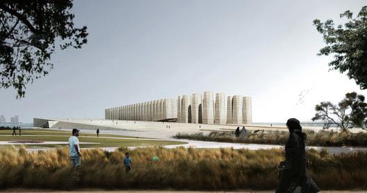 "ELEMENTAL's ""Art Mill"" concept design. Image © ELEMENTAL / Malcolm Reading Consultants"