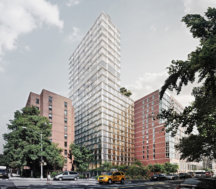 New Renderings Reveal Herzog & de Meuron's Nearly Completed Hotel Tower in Manhattan, Courtesy of Ian Schrager Company