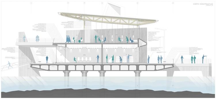 Bahía de Talcahuano: Seis proyectos de último año buscan dar un nuevo aspecto a la ciudad, Marina Pública Talcahuano, Chile. Image Cortesía de Claudio Tobar