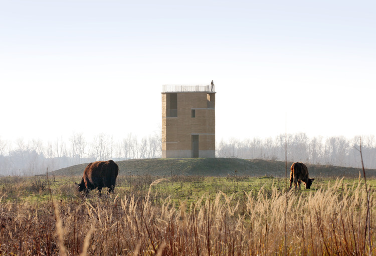 Observation Tower Negenoord / De Gouden Liniaal Architecten, © Filip Dujardin