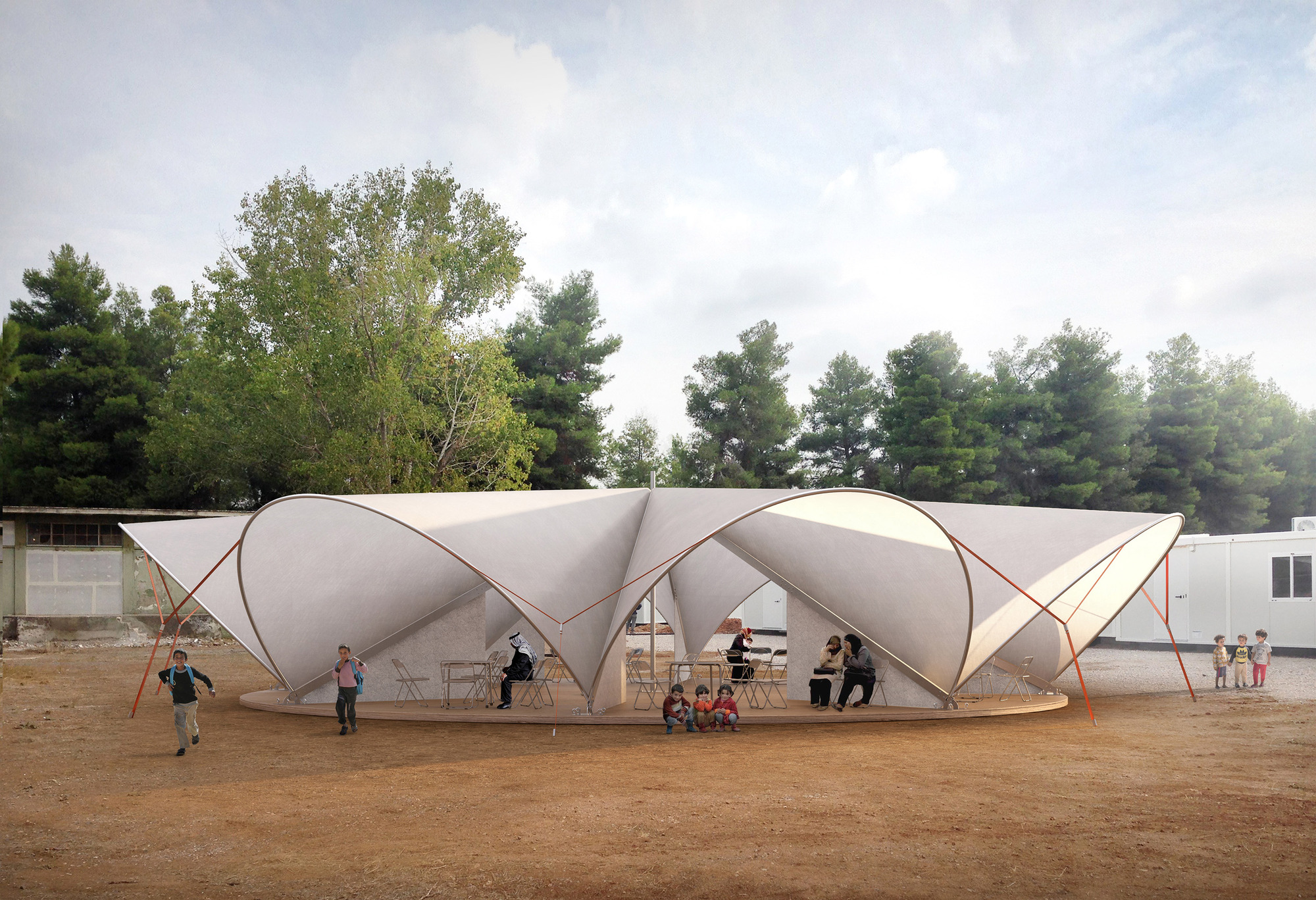 Instant Shelter Mby Architects : Maidan tent architectural aid for europe s refugee
