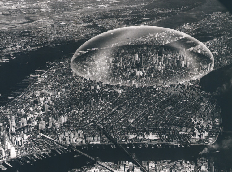 Bring New York's Never-Built Projects to Life With This Kickstarter, Buckminster Fuller Dome, 1961. Image Courtesy of Metropolis Books