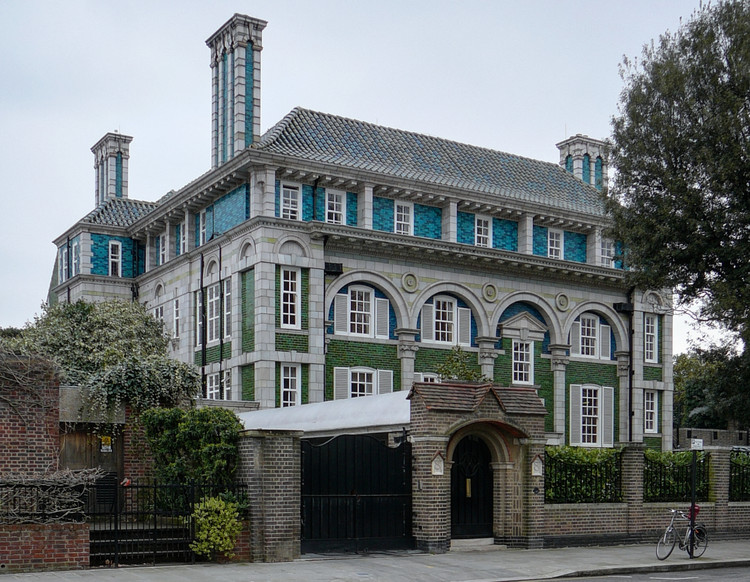 From Pastel Pink to Pastel Blue: Why Colorful Architecture is Nothing New, Debenham House, 8 Addison Road, Kensington, by Halsey Ricardo (1905-1908). Image Courtesy of Hidden London