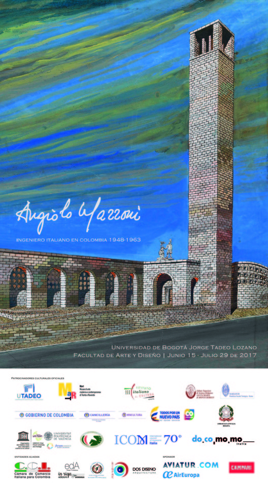 Exhibición 'Angiolo Mazzoni, ingeniero italiano en Colombia 1948-1963', Olimpia Niglio, 2017