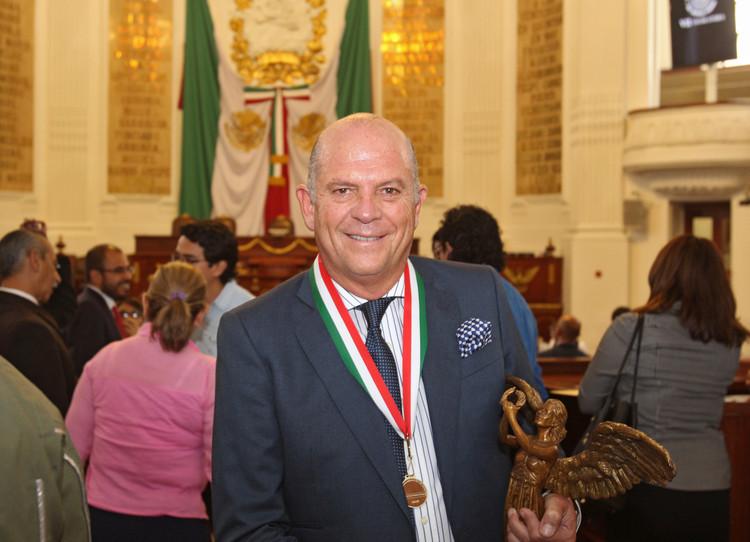 Javier Sordo Madaleno recibe la Medalla al Mérito en Ciencias y Arte en la categoría de Arquitectura, © HH Fotografía