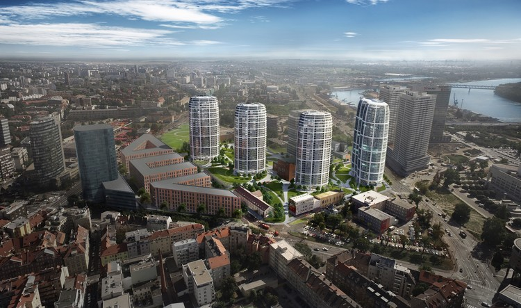 Zaha Hadid Architects Breaks Ground on Sky Park Development on Industrial Site in Bratislava, © Penta Investments