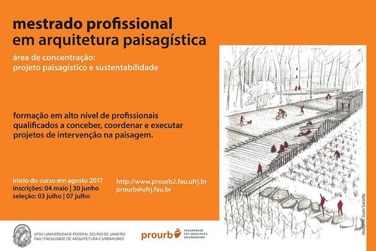 Seleção para mestrado profissional em arquitetura paisagística na UFRJ, Seleção para Mestrado Profissional em Arquitetura Paisagística na UFRJ