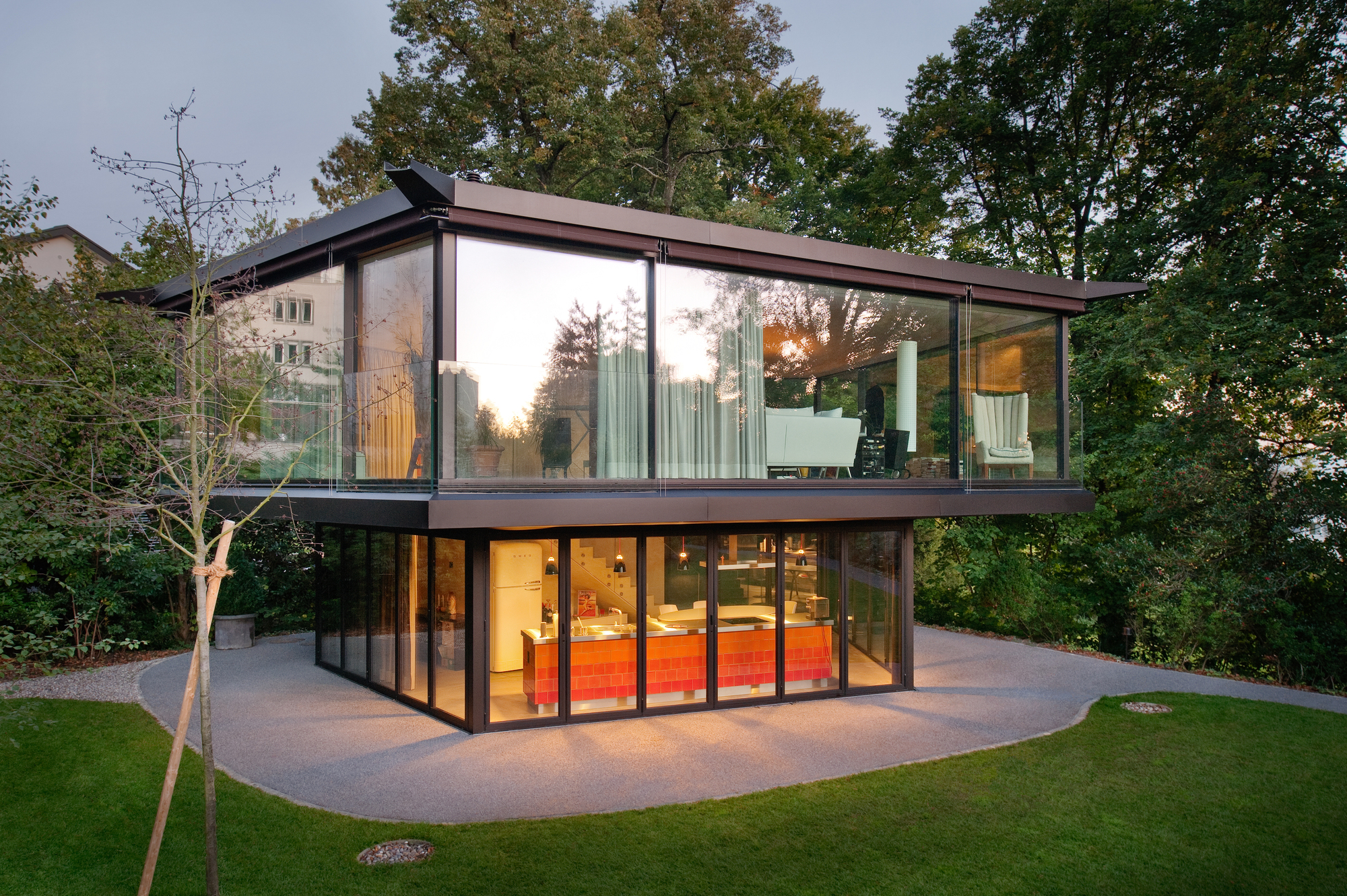 a garden pavilion in zurich oliv brunner volk architekten archdaily. Black Bedroom Furniture Sets. Home Design Ideas