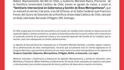 Seminario en Gobernanza y Gestión de Áreas Metropolitanas