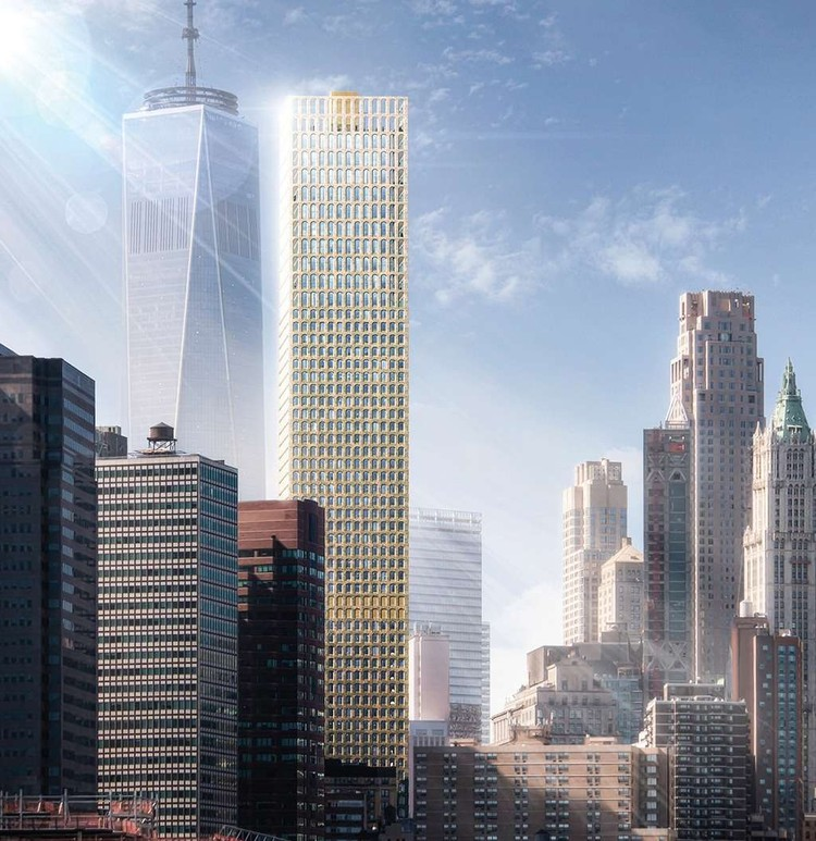 Early Concept Design for New York City Skyscraper by Adjaye Associates Revealed, via 6sqft