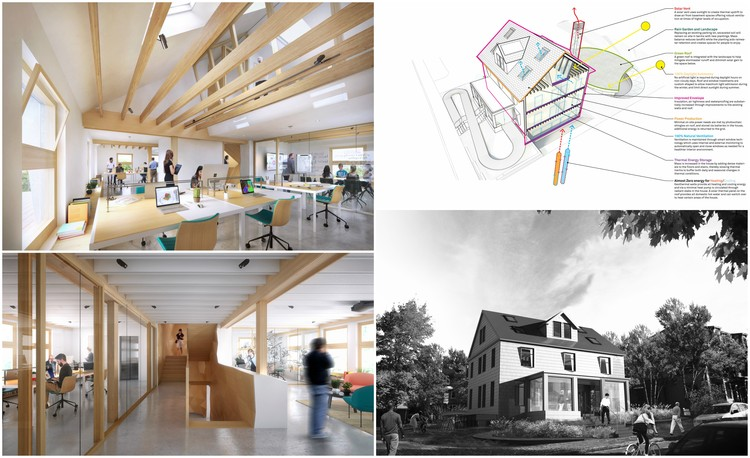 Harvard HouseZero - A Retrofit Response to Climate Change , ZeroHouse aims to set a new benchmark for sustainable retrofitting. Image Courtesy of Snøhetta/Plompmozes