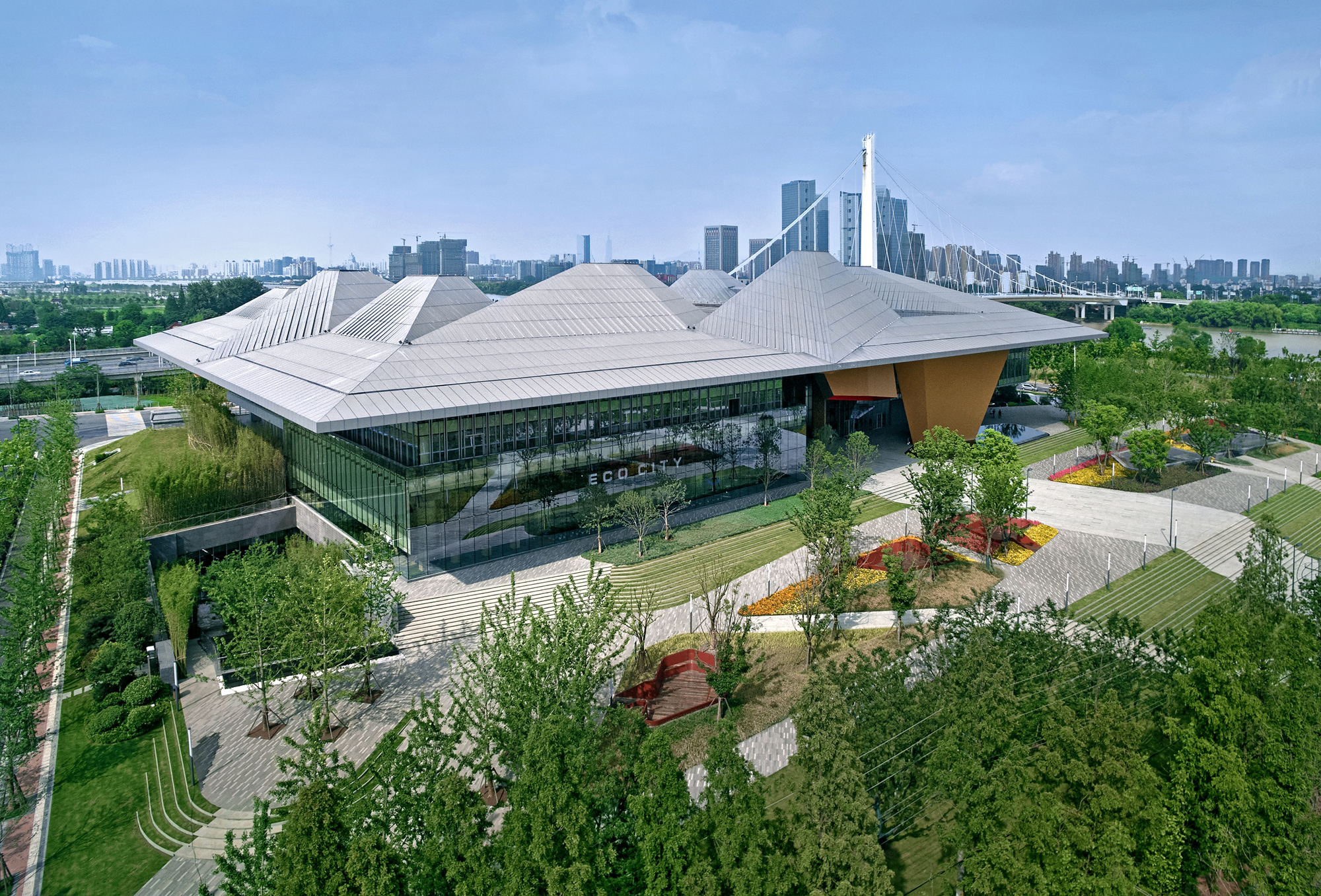 Nanjing Eco Tech Island Exhibition Center Nbbj Jiangsu