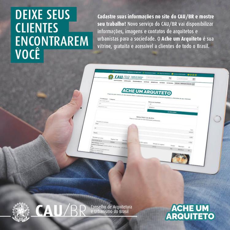 Ache um Arquiteto: Novo sistema de busca de profissionais do CAU, Cortesia de CAU/BR